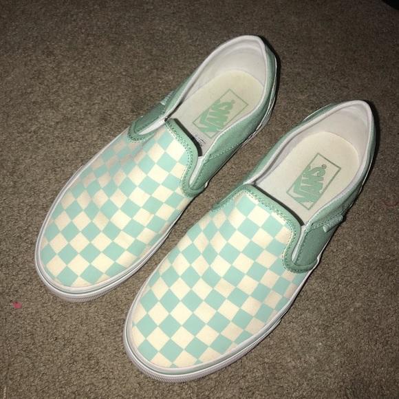 buy \u003e mint green checkerboard vans, Up
